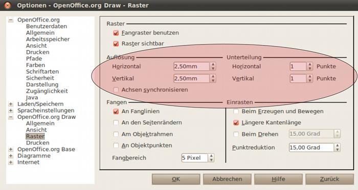 OpenOffice Draw als Schaltplanzeichner
